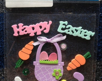 Easter Stickers - Foam Stickers - Easter Basket - Scrapbooking Supplies - Darice