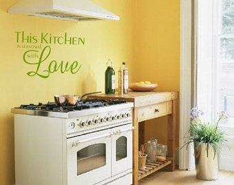 This Kitchen is Seasoned With Love - wall decal Kitchen decor