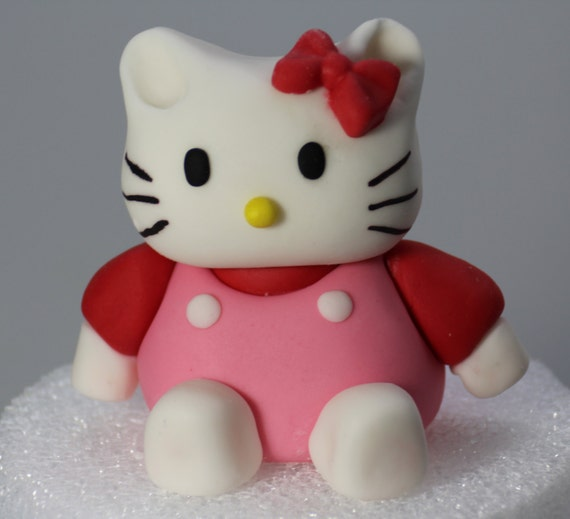 3D Hello Kitty Fondant Cake Topper. Ready to by ...