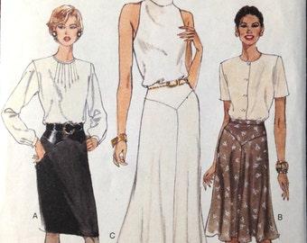 Vogue 9431 - Waistband Skirt with Yoke - Size 12-16