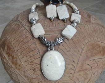 Riverstone Necklace Set