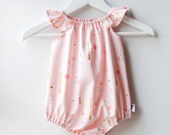 Apricot /Peach Rosemilk Baby Romper / Playsuit / Onesie