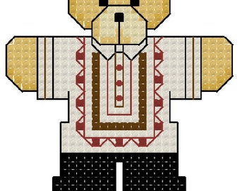 PATTERN ONLY Bears with Personality: The Filipino Bear Cross Stitch