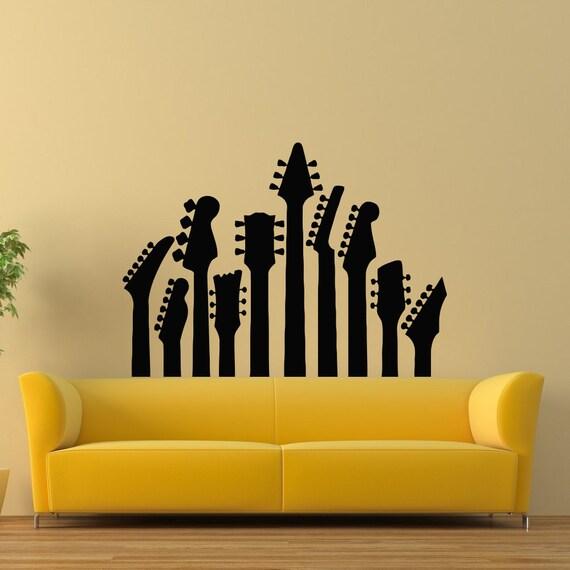 Guitarra pared calcoman a m sica pared calcoman a musical for Calcomanias pared