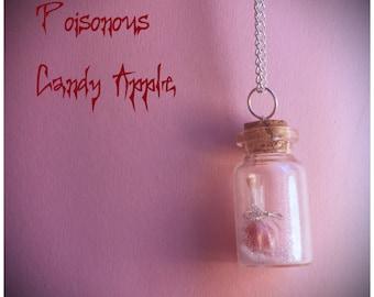 Poisonous Candy Apple   Bottle Charm Necklace