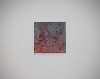 Original Abstract Painting. 10 x 10 on Stretched Canvas.