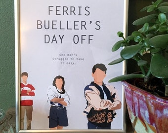 Ferris Bueller's Day Off movie poster - A4 print