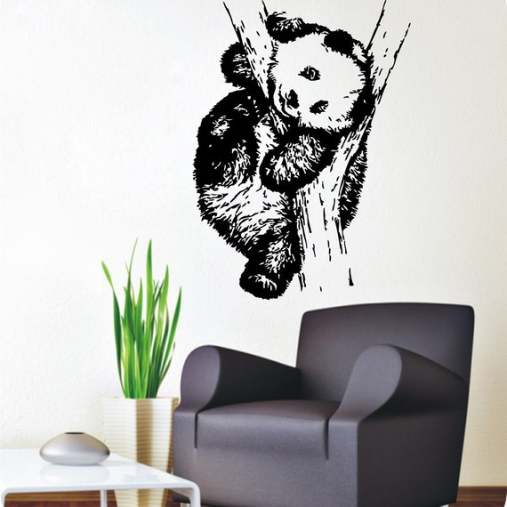Panda Wall Decals Animals Bear Home Interior By