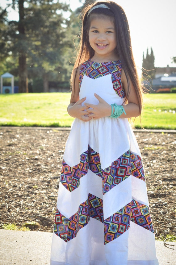 Girls Maxi Dress Toddler Boho Maxi Dress Girls by lisalisaDesigns