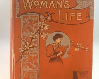 Woman's Life: Altered Art Book, Diorama, Repurposed Book, Antiquarian Book, OOAK