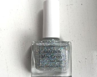 Holo Haze Polish - 5ml Holographic Silver Glitter Nail Polish - handmade in the UK