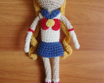 Sailor Moon amigurumi crochet doll