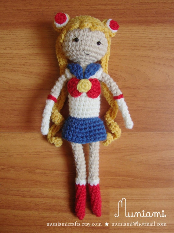Amigurumi Sailor Moon : Sailor Moon amigurumi crochet doll