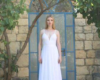 Victoria - Boho wedding dress , bohemian wedding dress, Hippie wedding dress