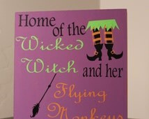 Halloween Decor, Halloween wall art, halloween sign, fall decor, halloween witch decor, wicked witch decor
