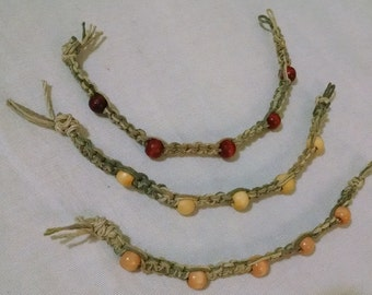 Earth-Toned Hemp Bracelet