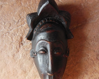 Yaure Baule Passport Mask Cote d'Ivoire African Carved Wood