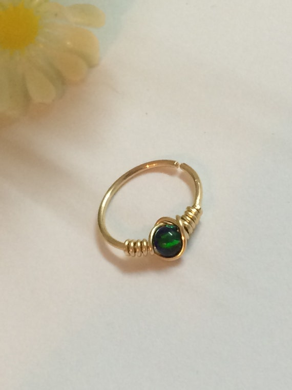 opal nose piercing opal nose jewelry ring opal nose ring