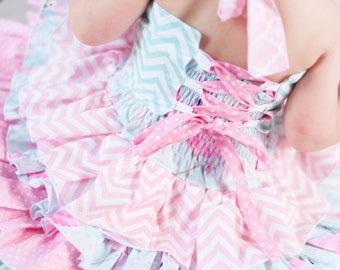 Girls Dress, Toddler Ruffle Dress, Baby Girls Dress, Pink Flamingo Dress, Pageant Dress, Over The Top, Party Dress, OOC, Boutique Dress