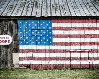 American Flag Canvas Wrap - Stars & Stripes - Support Our Troops - Fine Art