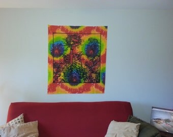 SALE // Grateful Dead Bertha Tie Dye Tapestry - groovy art - tie-dye wall hanging