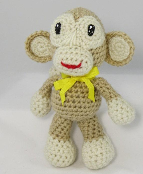 Crochet Patterns For Jungle Animals : crochet stuffed monkey jungle animal toy crochet monkey