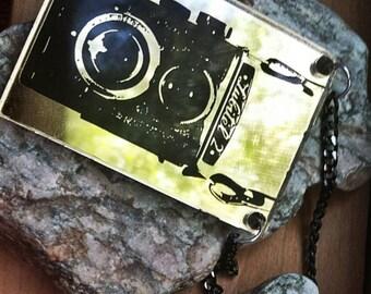 Rolleiflex vintage camera Necklace