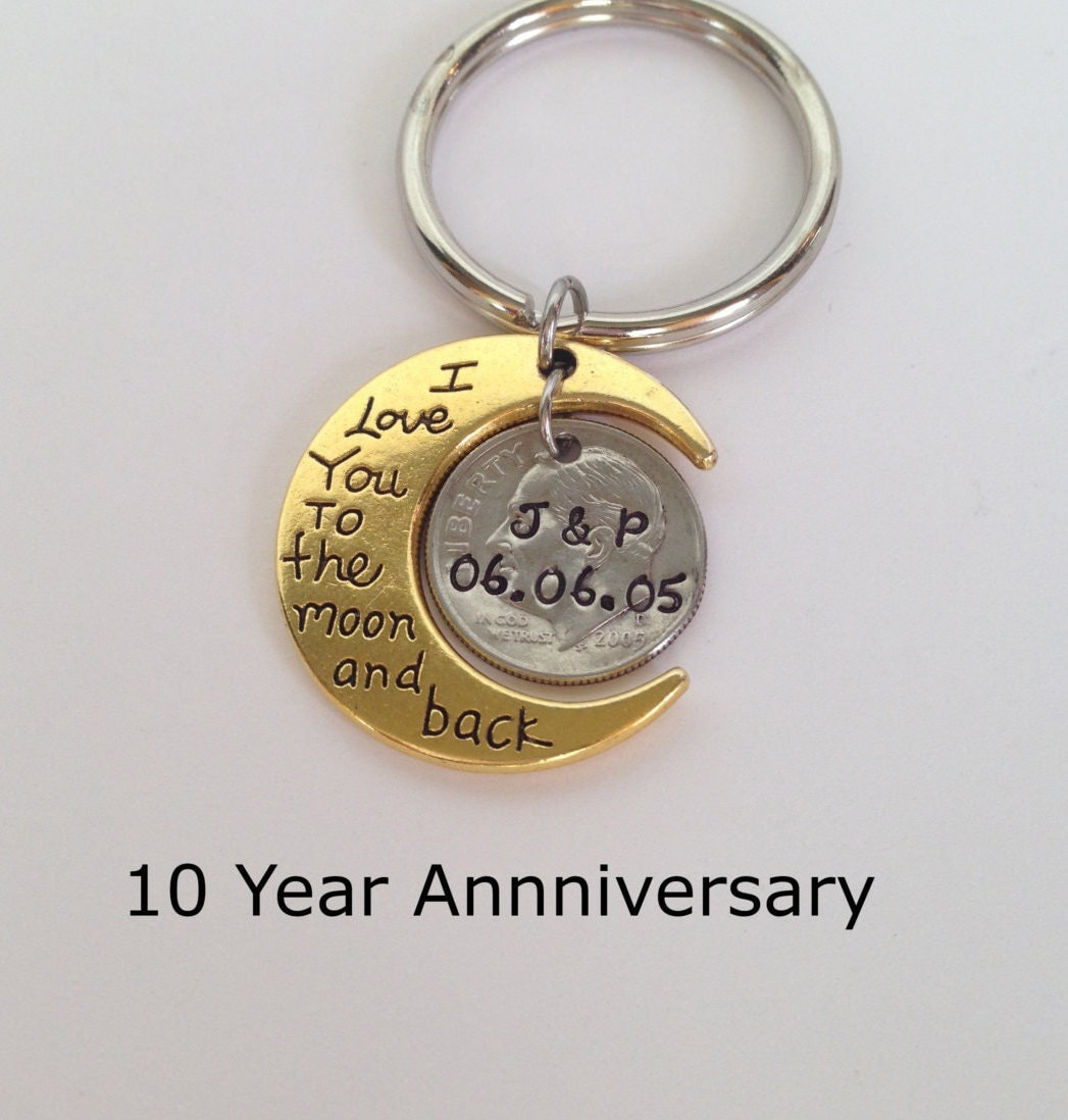 10 Year Anniversary Keychain Anniversary Gift For Men