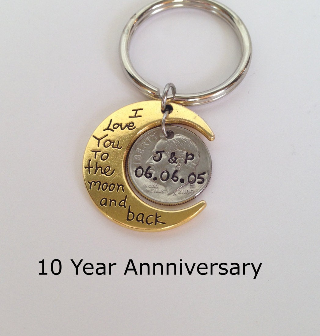 14 Year Wedding Anniversary Gift For Her: 10 Year Anniversary Keychain Anniversary Gift For Men