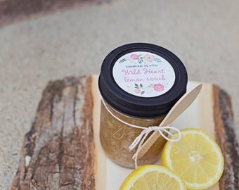 Wild Heart Lemon Scrub. Lemon Scrub. Lemon Sugar Scrub. Organic Sugar Scrub. Exfoliating Scrub. Sugar Scrub.