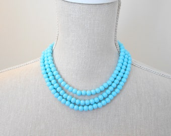 Long turquoise braided pearl necklace, choose pearl color, handmade jewelry, lady gift, Christmas present, mother day, for grandma, teacher