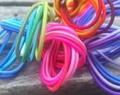 2mm Elastic Cord (.53 per yard) - 150 yards - assortment of 30 (gorgeous) colors! - Highest quality