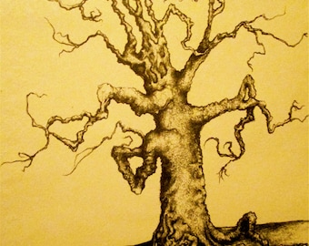 Tree Art, Wall Art, Wall Art Print, Drawing & Illustration, Art Print, Tree Print, Wall Decor, Home Decor, Tree, Nature Art, Tree Drawing