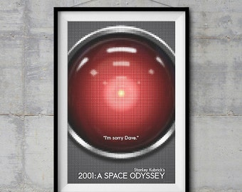 2001: A Space Odyssey Poster - Halftone Artwork