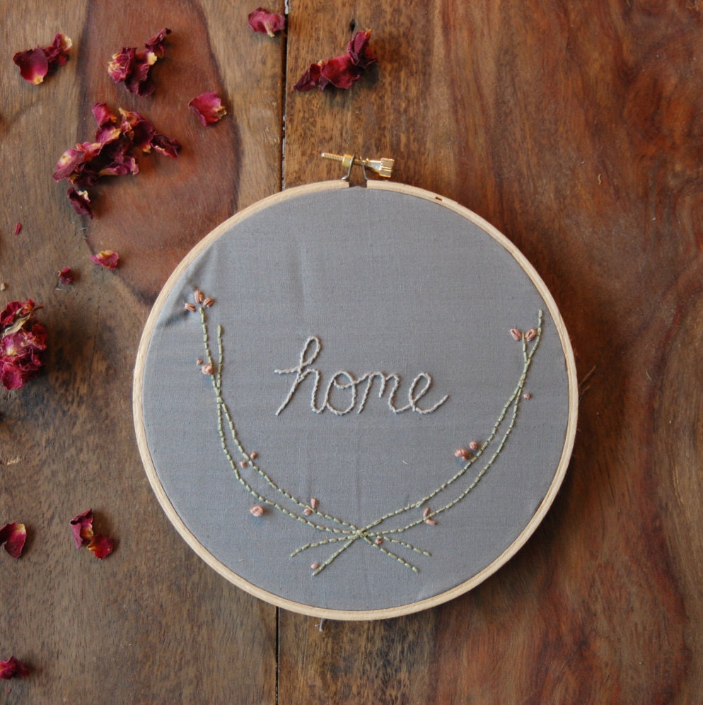 Hoop art modern embroidery simple home