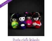 Tutoriel crochet: Kokeshi en porte-clefs
