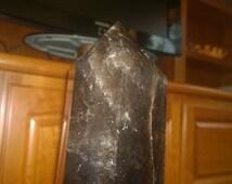 26 in/66 cm long Brazilian Large Natural Smoky Citrine Quartz Crystal Obelisk (Free Domestic Shipping!)