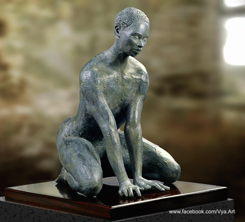 Amazon.com: Bronze Nude Women Sculpture tribal woman