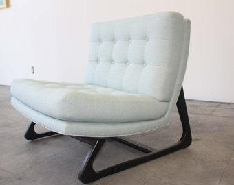 Mid-Century Modern  Reception Armless Chair