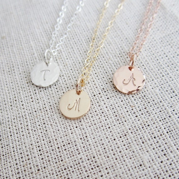 Rose gold initial necklace pink gold filled necklace like this item aloadofball Choice Image