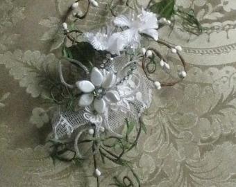 Handmade Evening Garden Bridal Headpiece, Floral Comb, Boho Headpiece, Boho Floral Comb, Hair Vine, Vintage Flowers
