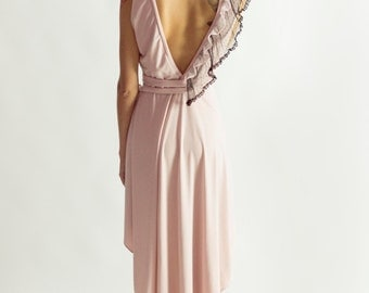 Lily wrap dress in soft pink