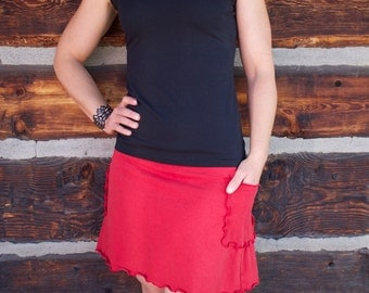 SALE - Hemp Elven Pocket Mini-Skirt