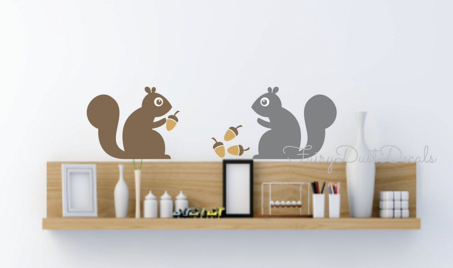 squirrel wall decals woodland animal wall decal tree. Black Bedroom Furniture Sets. Home Design Ideas