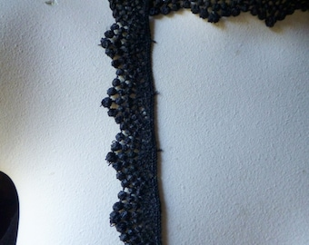Black Lace Venise Lace Trim  for Garments, Jewelry or Costume Design L
