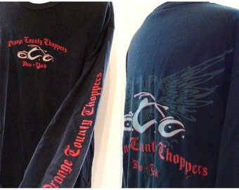 New York Harley Tee. Orange County Choppers Long Sleeve T-Shirt. Wings. Motorcycle. Cotton Tee. OCC NYS on sale