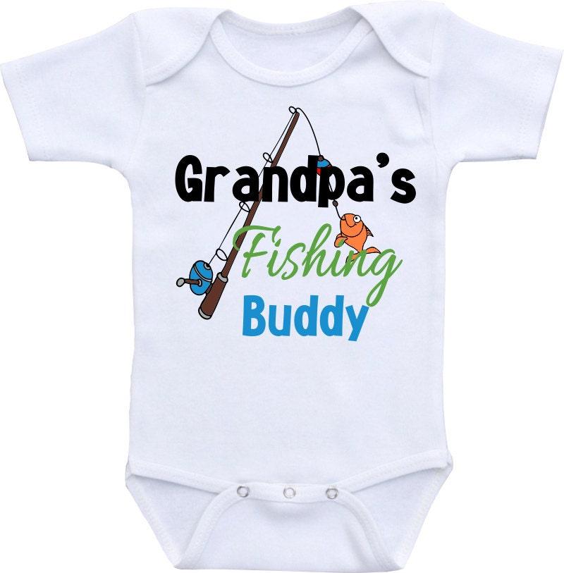 Grandpa 39 S Fishing Buddy Onesies Brand Gerber Onesie