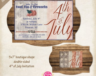 Boutique Fourth Of July Invitations - Set of 25