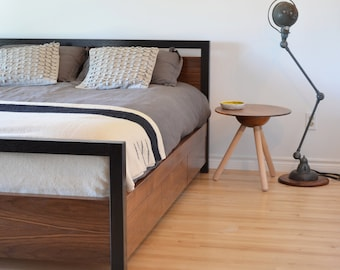 Walnut captains bed