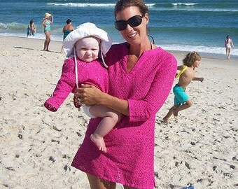 NEW & IMPROVED! Saltaire Tunic Downloadable PDF Sewing Pattern Beach Cover-Up Eyelet Tunic